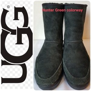 UGG Green Ultra Short Revival Sheepskin Boot